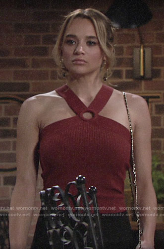 Summer's ring neck top on The Young and the Restless