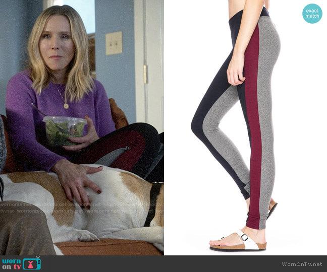 Sundry Colorblock Leggings worn by Veronica Mars (Kristen Bell) on Veronica Mars