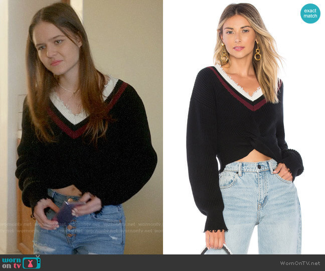 T by Alexander Wang Twist Front Sweater  worn by Matty Ross (Izabela Vidovic) on Veronica Mars