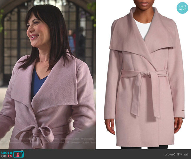 Ellie Coat by T Tahari worn by Cassandra Nightingale (Catherine Bell) on Good Witch