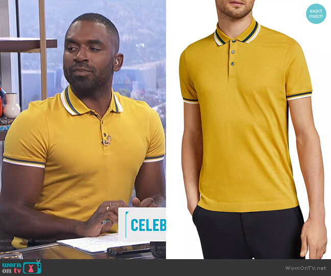 Kazza Polo Shirt by Ted Baker worn by Justin Sylvester  on E! News