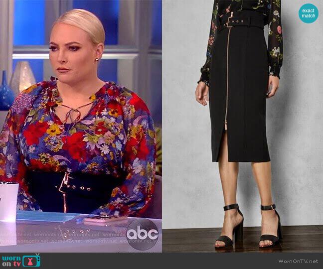 Ted Baker Kaara Skirt worn by Meghan McCain  on The View