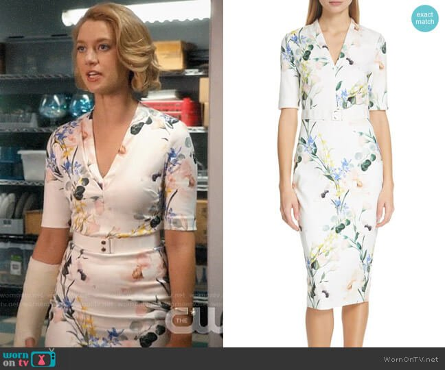 Ted Baker Lylli Dress worn by Petra Solano (Yael Grobglas) on Jane the Virgin