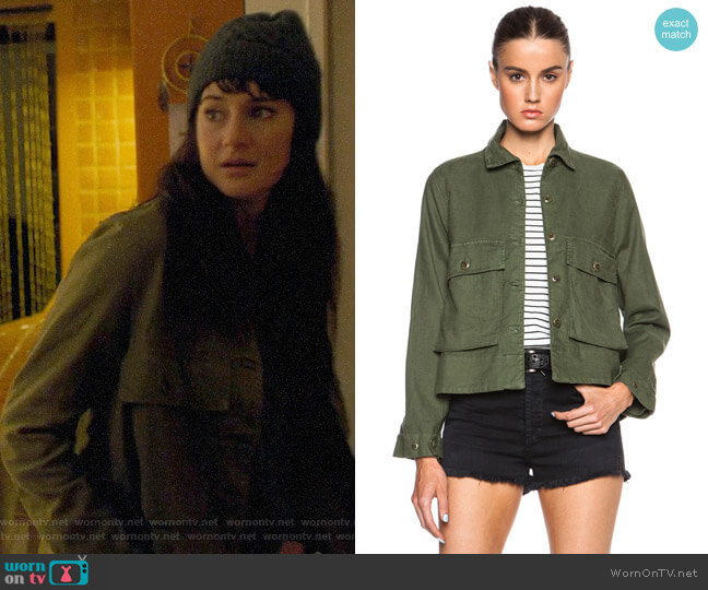The Great Swingy Army Jacket worn by Jane Chapman (Shailene Woodley) on Big Little Lies