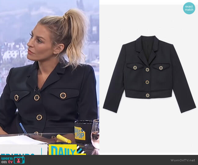 Cropped Jacket by The Kooples worn by Morgan Stewart  on E! News