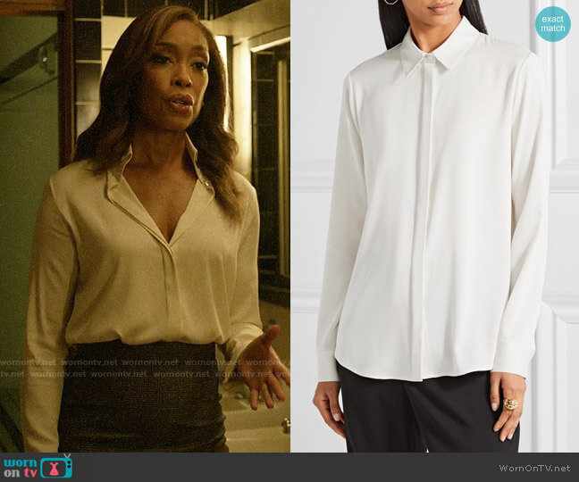 The Row Petah Blouse worn by Jessica Pearson (Gina Torres) on Pearson