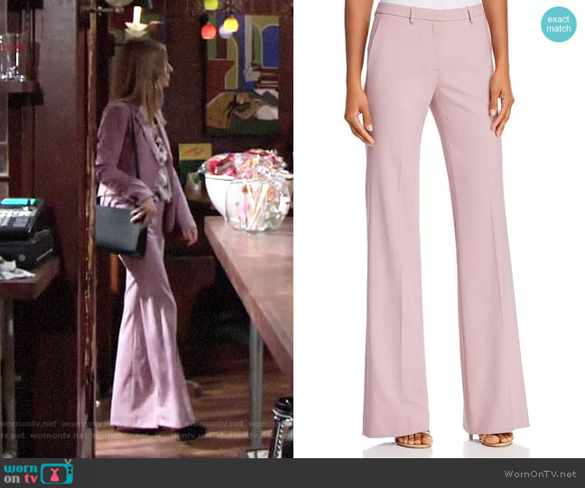 Theory Dusty Lilac Demitria Pants worn by Christine Blair Williams (Lauralee Bell) on The Young & the Restless