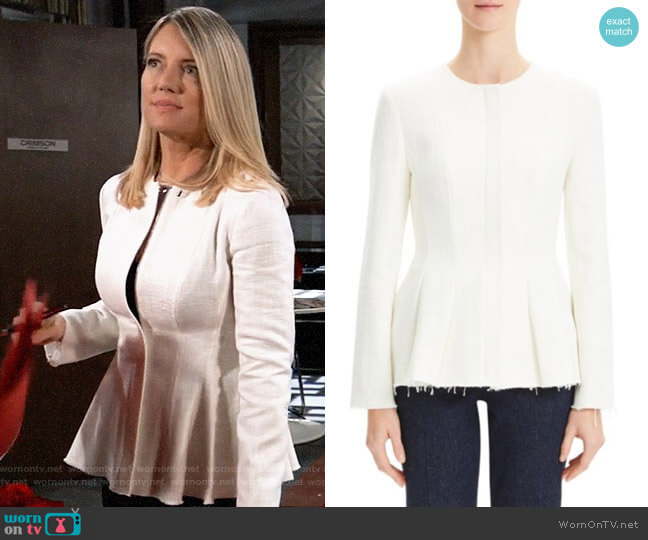 Theory Movement Canvas Jacket worn by Nina Reeves (Cynthia Watros) on General Hospital