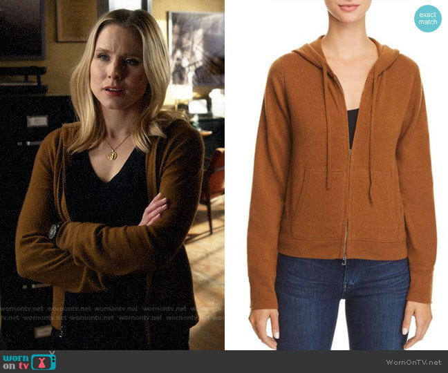 Theory Perfect Cashmere Hoodie worn by Veronica Mars (Kristen Bell) on Veronica Mars