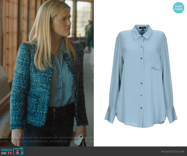 Theory Silk Shirt worn by Madeline Martha Mackenzie (Reese Witherspoon) on Big Little Lies