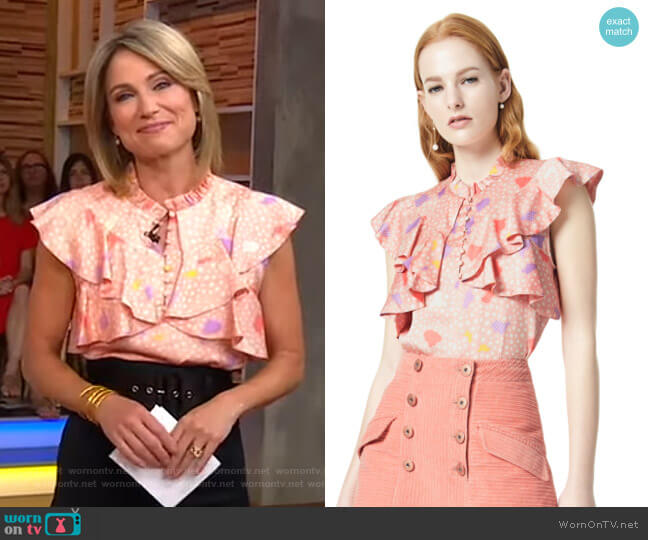 Blis Top by Three Floor worn by Amy Robach  on Good Morning America