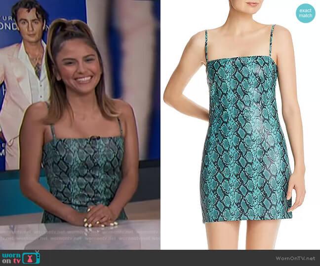 Viper Mini Dress by Tiger Mist worn by Erin Lim  on E! News