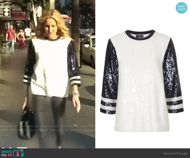 Topshop Sequin Top worn by Stephanie Pratt  on The Hills New Beginnings