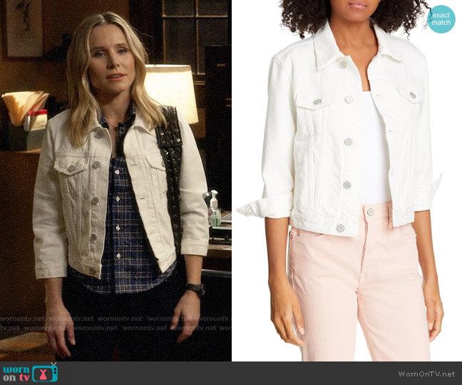 Trave Zoey Crop Denim Jacket worn by Veronica Mars (Kristen Bell) on Veronica Mars