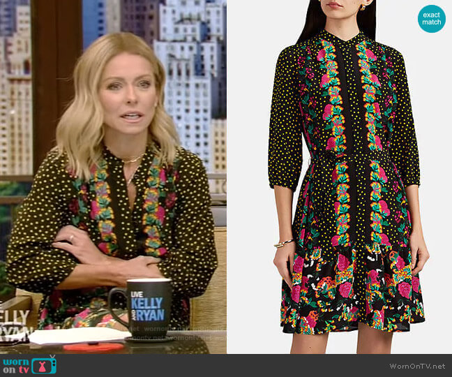 Tyra Dress by Saloni worn by Kelly Ripa  on Live with Kelly & Ryan