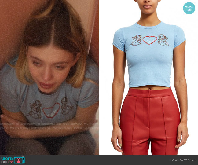 Vanna Youngstein Cherub Tee worn by Cassie Howard (Sydney Sweeney) on Euphoria