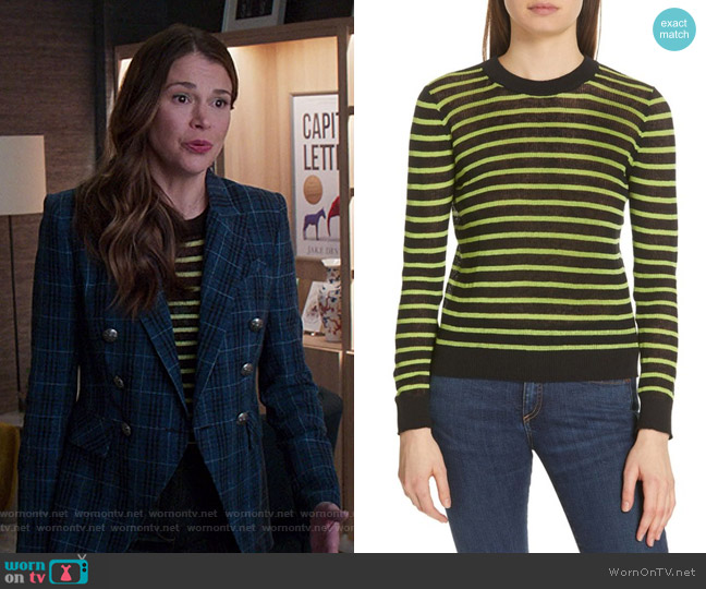 Dean Sweater by Veronica Beard worn by Liza Miller (Sutton Foster) on Younger