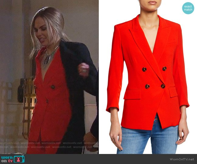 Dinah Dickey Jacket by Veronica Beard worn by Hannah Brown  on The Bachelorette