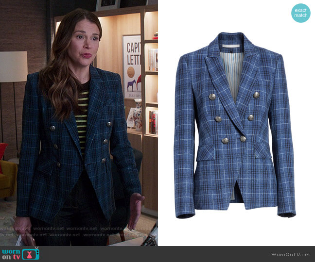 Miller Dickey Jacket by Veronica Beard worn by Liza Miller (Sutton Foster) on Younger