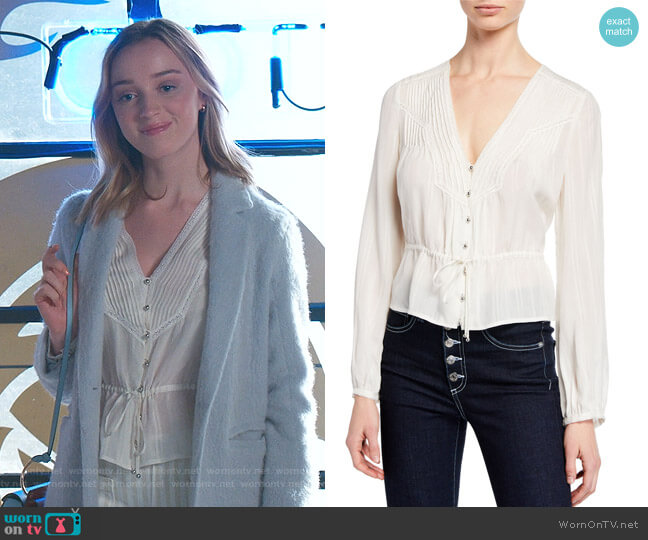 Phoebe Blouse by Veronica Beard worn by Phoebe Dynevor on Younger