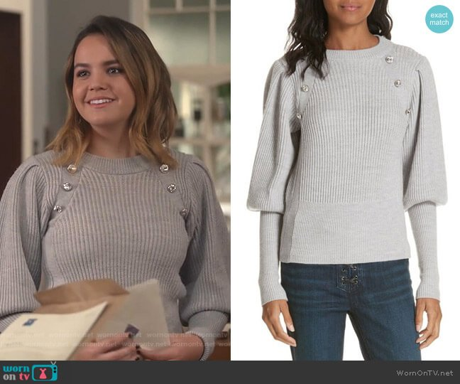 Jude Sweater by Veronica Beard worn by Grace Russell (Bailee Madison) on Good Witch