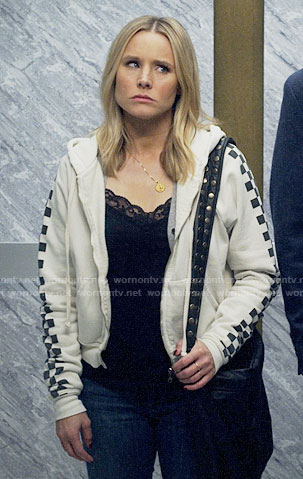 Veronica's check sleeve hoodie on Veronica Mars