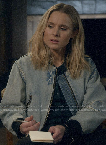 Veronica's denim bomber jacket on Veronica Mars