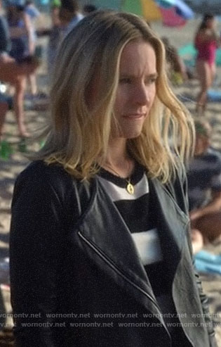 Veronica's leather jacket on Veronica Mars