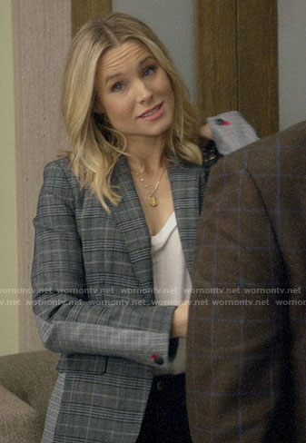 Veornica's mixed plaid blazer on Veronica Mars