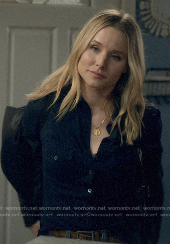Veronica's navy button down shirt on Veronica Mars