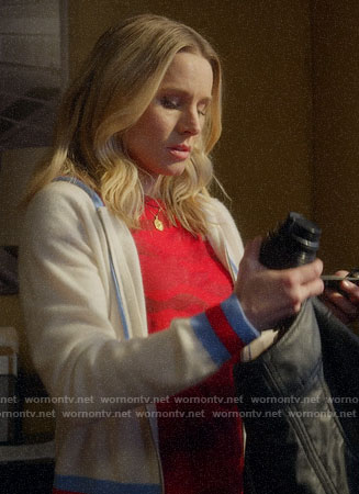 Veronica's red camo tee and hoodie on Veronica Mars