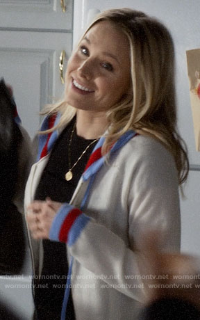 Veronica's striped trim hoodie on Veronica Mars