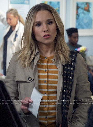 Veronica's yellow striped cardigan on Veronica Mars