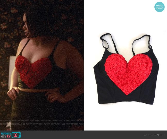 Victorias Secret Heart Bustier worn by Kat Hernandez (Barbie Ferreira) on Euphoria