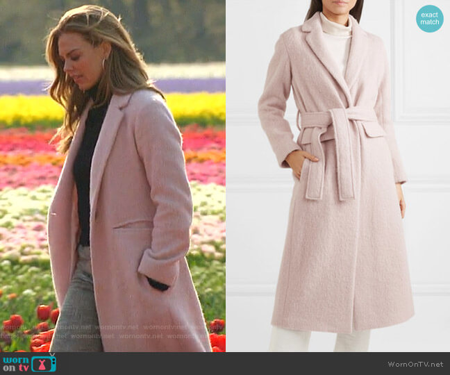 Brushed-Felt Coat by Vince worn by Hannah Brown  on The Bachelorette