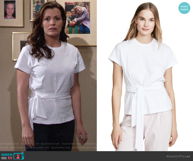 Vince Wrap Tee worn by Chelsea Lawson (Melissa Claire Egan) on The Young & the Restless