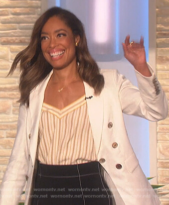 Gina Torres's white blazer on The Talk