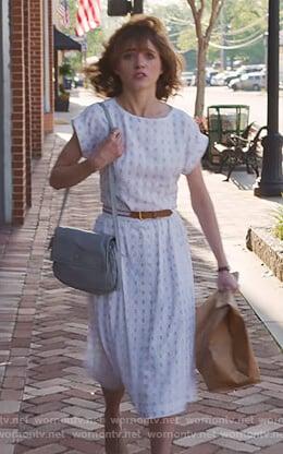 Nancy's white embroidered dress on Stranger Things