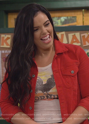 Lou's white Good Morning Sunshine tee on Bunkd