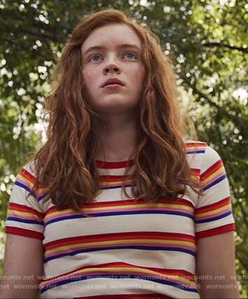 Max's stripe tee on Stranger Things
