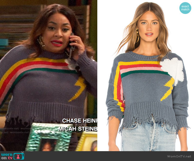 Wildfox Couture Rainbow Storm Sweater  worn by Raven Baxter (Raven-Symoné) on Ravens Home