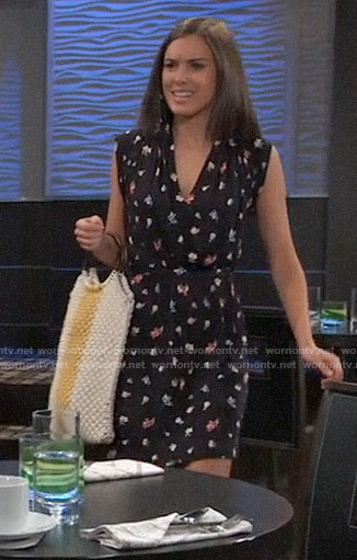 Willow's floral v-neck dress on General Hospital