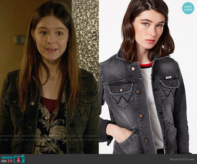 Wrangler Heritage Denim Jacket worn by Matty Ross (Izabela Vidovic) on Veronica Mars