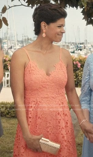 Xiomara's coral lace dress on Jane the Virgin