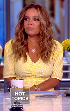 Sunny's yellow ruched dress on The View