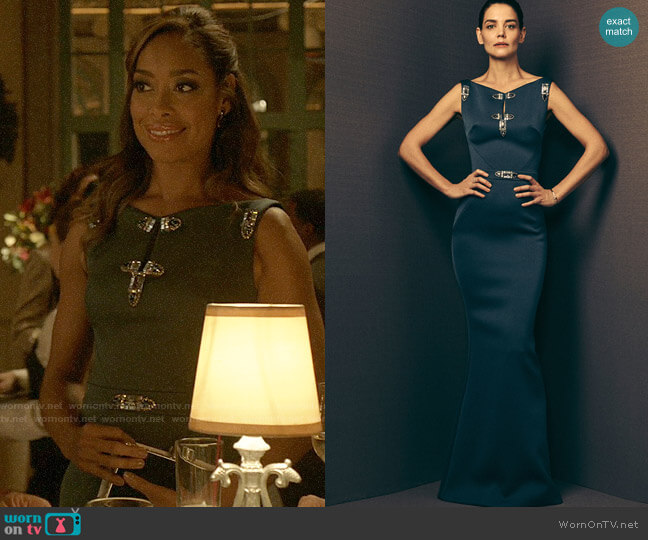 Zac Posen Spring 2018 Embellished Gown worn by Jessica Pearson (Gina Torres) on Pearson