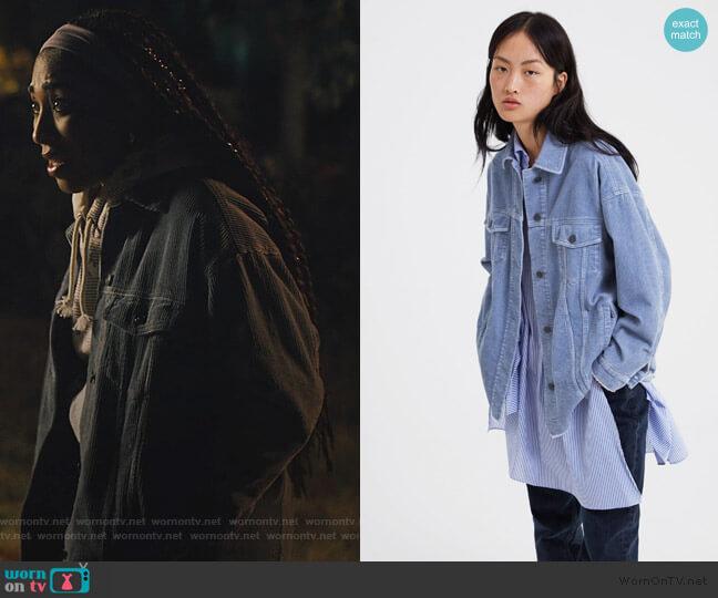 Corduroy Jacket by Zara worn by Peri (Adriyan Rae) on Light as a Feather