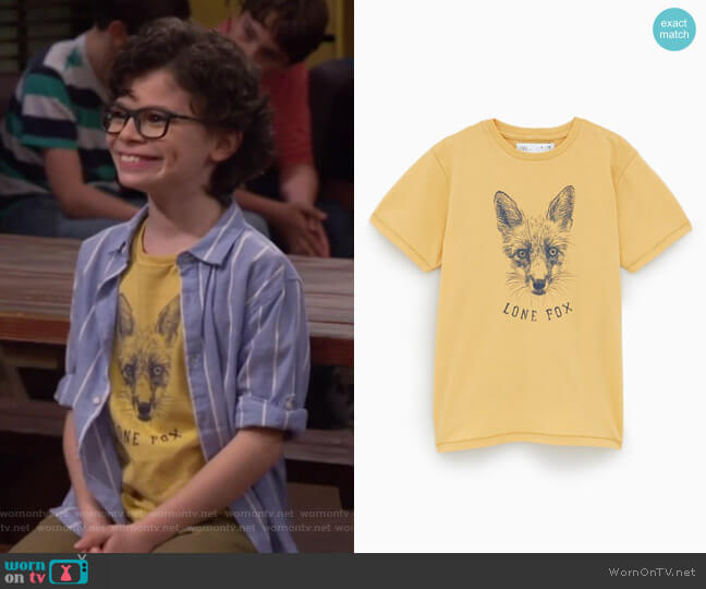 Fox Shirt by Zara worn by Matteo Silva (Raphael Alejandro) on Bunkd