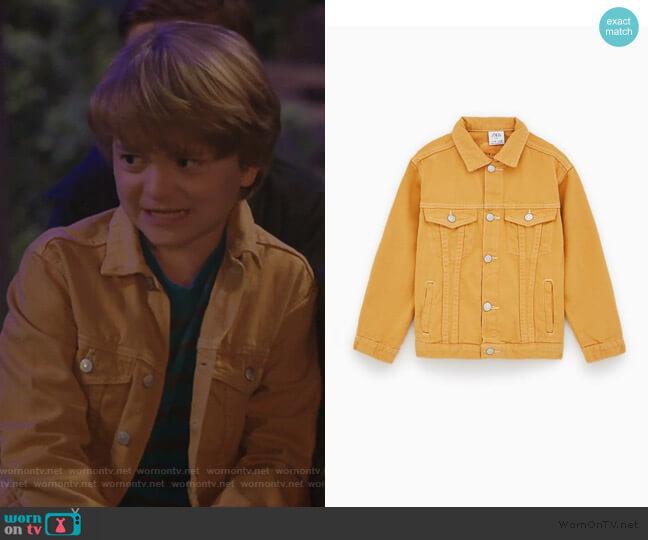 Garment Dyed Denim Jacket by Zara worn by Finn Sawyer (Will Buie Jr) on Bunkd