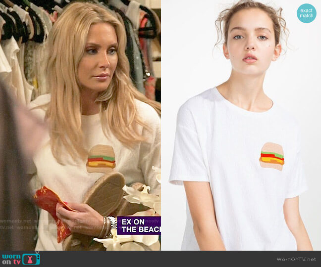 Zara Burger T-shirt worn by Stephanie Pratt  on The Hills New Beginnings